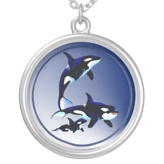Killer Whale Family Necklace