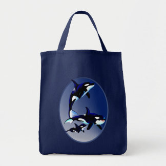 Killer Whale Family Oval Bags