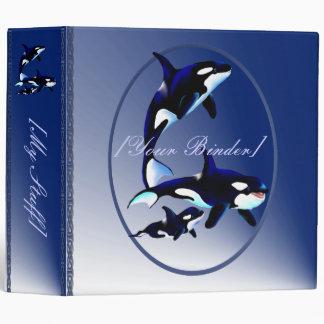 Killer Whale Family Oval ,binder_2_back.v4. Binder