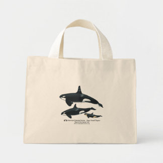 Killer Whale Family Striped Bag