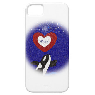 Killer whale for Peace iphone 5 barely there case