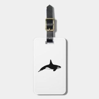 Killer whale in black and white bag tag