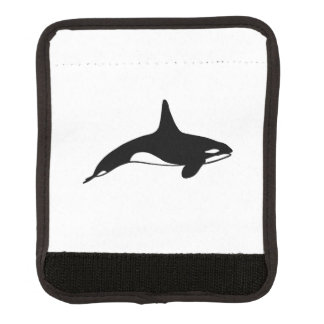 Killer whale in black and white luggage handle wrap