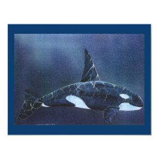Killer Whale 4.25x5.5 Paper Invitation Card
