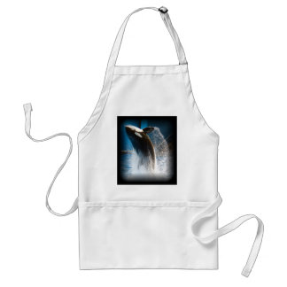 Killer Whale Jumping Adult Apron