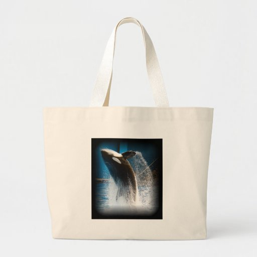 Killer Whale Jumping Canvas Bags