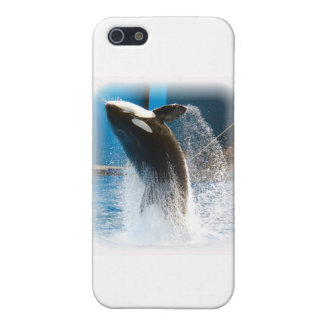 Killer Whale jumping Case For iPhone SE/5/5s