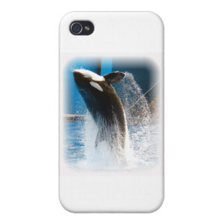 Killer Whale jumping iPhone 4 Cases