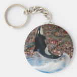 Killer whale jumping keychains