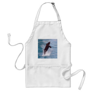 Killer whale jumping out of water adult apron