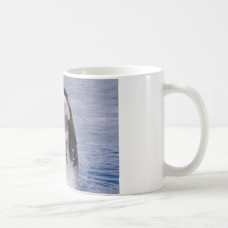 Killer whale jumping out of water coffee mug