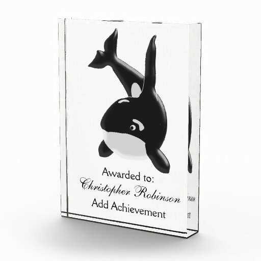 Killer Whale Just Add Text Award