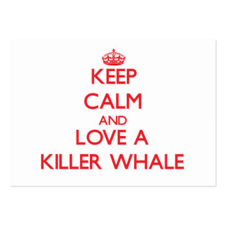 Killer Whale Large Business Cards (Pack Of 100)