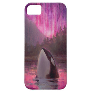 Killer Whale Orca and Northern Lights Phone Case