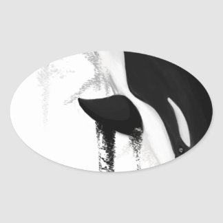 Killer Whale Orca by Crem Oval Sticker