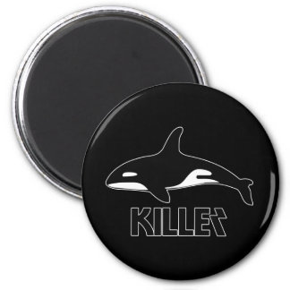 Killer Whale Orca of Death 2 Inch Round Magnet