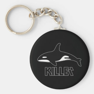 Killer Whale Orca of Death Basic Round Button Keychain