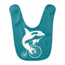 Killer Whale Orca Rider Penny Farthing Bicycle Bib