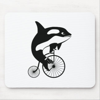 Killer Whale Orca Riding a Bike Mouse Pad