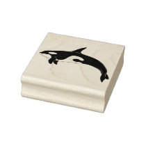 Killer whale orca rubber stamp