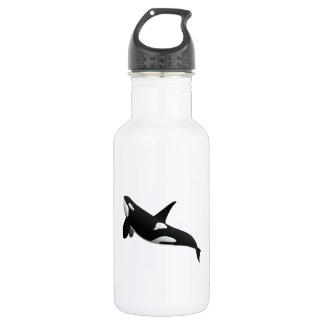 Killer Whale, Orcinus Orca 18oz Water Bottle