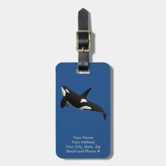 Killer Whale, Orcinus Orca Bag Tag