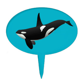 Killer Whale, Orcinus Orca Cake Topper
