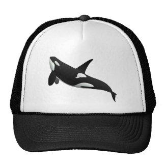 Killer Whale, Orcinus Orca Mesh Hats