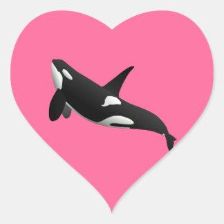 Killer Whale, Orcinus Orca Heart Sticker