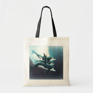 Killer Whale painting Tote Bag