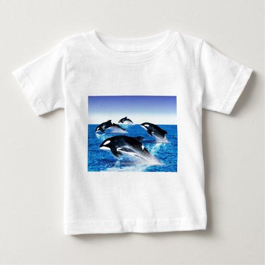 Killer Whale Pod Baby T-Shirt