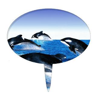 Killer Whale Pod Cake Topper