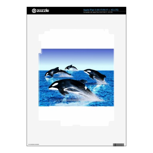 Killer Whale Pod iPad 3 Skin