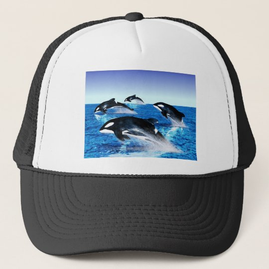 Killer Whale Pod Trucker Hat