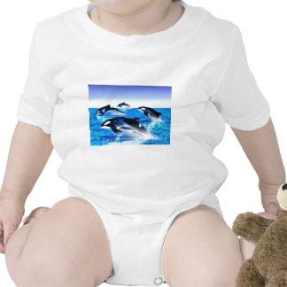 Killer Whale Pod Romper
