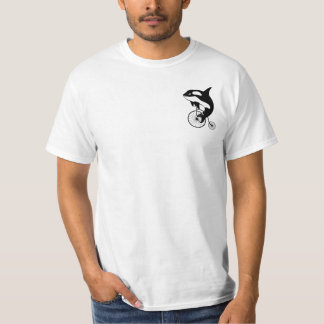 Killer Whale Riding a Penny Farthing Shirt
