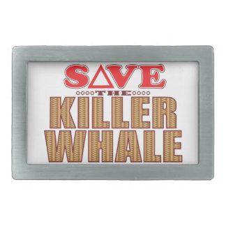 Killer Whale Save Belt Buckle