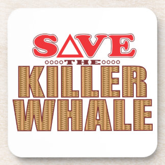 Killer Whale Save Beverage Coaster