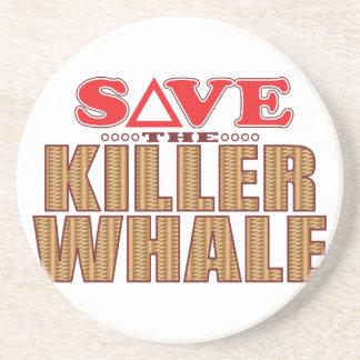 Killer Whale Save Drink Coaster