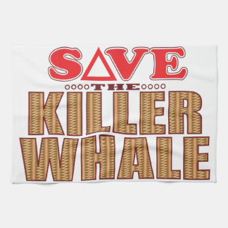 Killer Whale Save Kitchen Towel