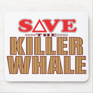 Killer Whale Save Mouse Pad