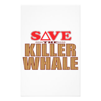 Killer Whale Save Stationery