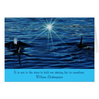 Killer Whale Starlight Sea inspirational greeting  Card