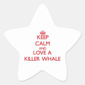 Killer Whale Star Sticker