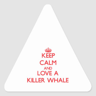 Killer Whale Triangle Sticker