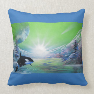 Killer Whale Toss Cushion. Pillows