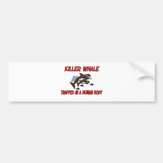 Killer Whale trapped in a human body Bumper Stickers