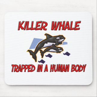 Killer Whale trapped in a human body Mouse Mats