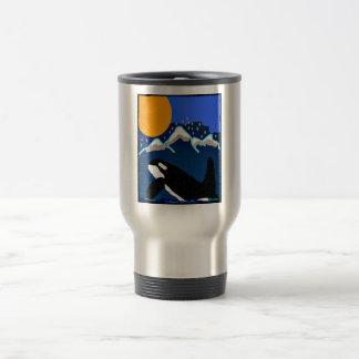 Killer Whale tribute to Ruffles the Orca travel mu Travel Mug