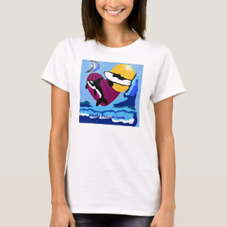 Killer Whales Alaska Summer Fun ladies Baby Doll f T-Shirt